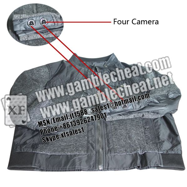 XF new cuff button camera with 4 lens for poker analyzer|marked cards|hidden camera|poker cheat