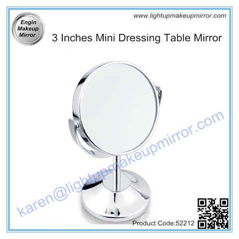 3 Inches Mini Dressing Table Mirror