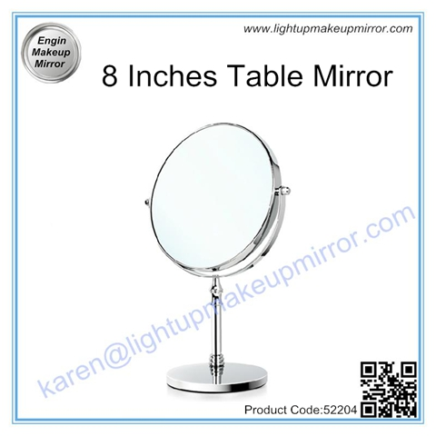 8 Inches Table Mirror