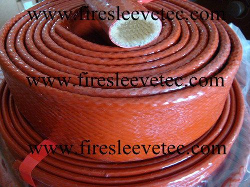 hose & cable silicone coated fiberglass fire sleeve with velcro closure