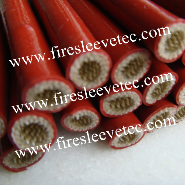 silicone coated fiberglass fire resistant sleeve with velcro