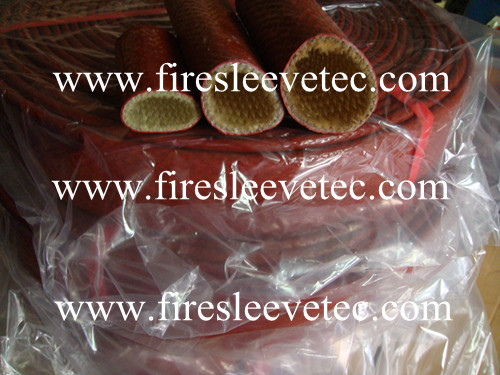 silicone fiberglass fire sleeve with velcro