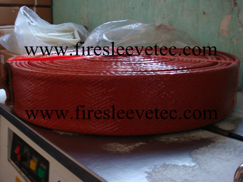 silicone coated fiberglass fire sleeve