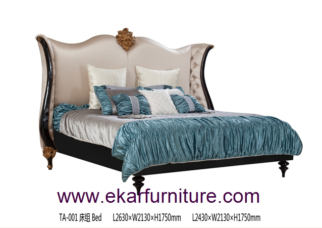 Wooden King Bed Bedroom Furniture TA-001