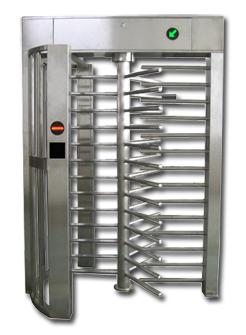 Stainless Steel Single Channel Access Control System Full Height Turnstile