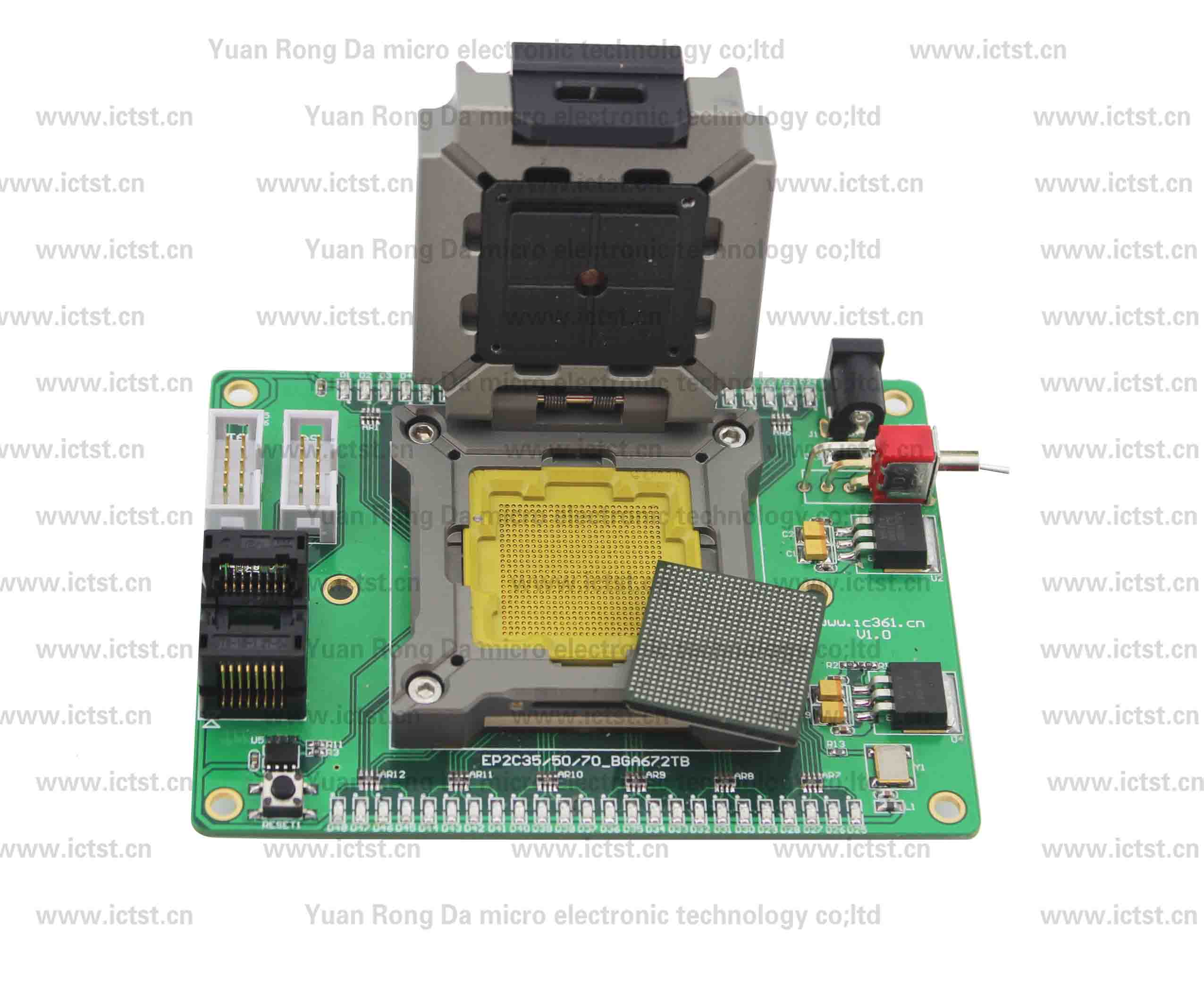 EP2S15F672C4 BGA test socket test fixture