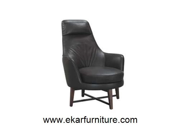 Modern chair wingback chair black leather furniture YX023