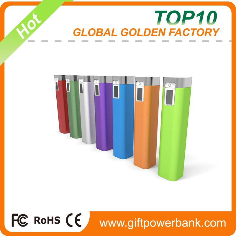 Colorful factory directly universal portable power bank 2600mah
