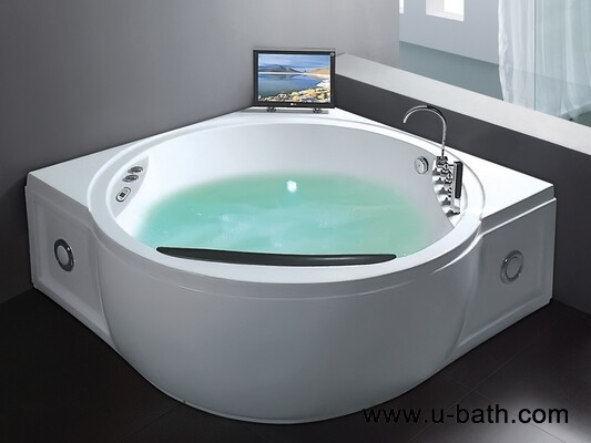 U Bath Two Person Portable Corner Whirlpool Bathtub