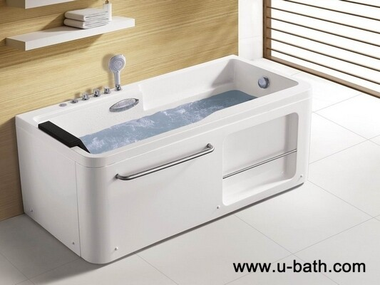 U-BATH 2015 New Wholesale Rectangular Massage Bathtub , Jacuzzi for 1 person