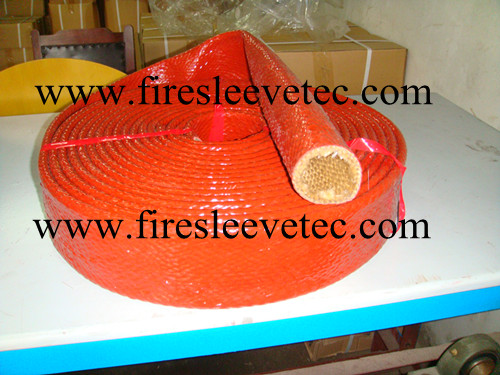 hydraulic hose protection fire protection sleeve