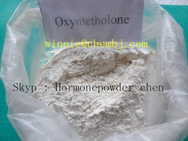 white powder Anabolic Steroid 99% Oxymetholone Powder Steroids For Muscle Growth