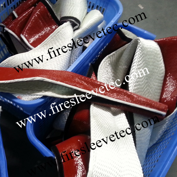 silicone fiberglass braided heat sleeve