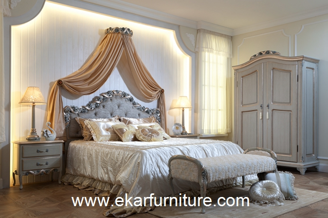 Wood bed bedroom sets neo classic style FB-103
