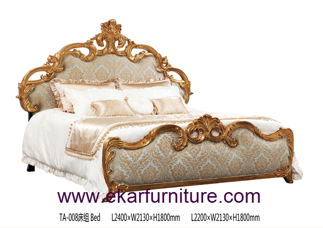 Antique bed king bed wood bed TA-008