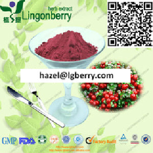 Lingonberry juice powder