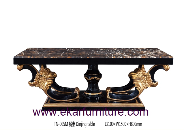 Dining table black square dining table modern dining table solid wood dining table TN-005M
