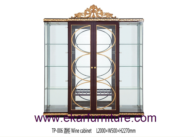China cabinet wooden cabinet glass cabinet TP-006