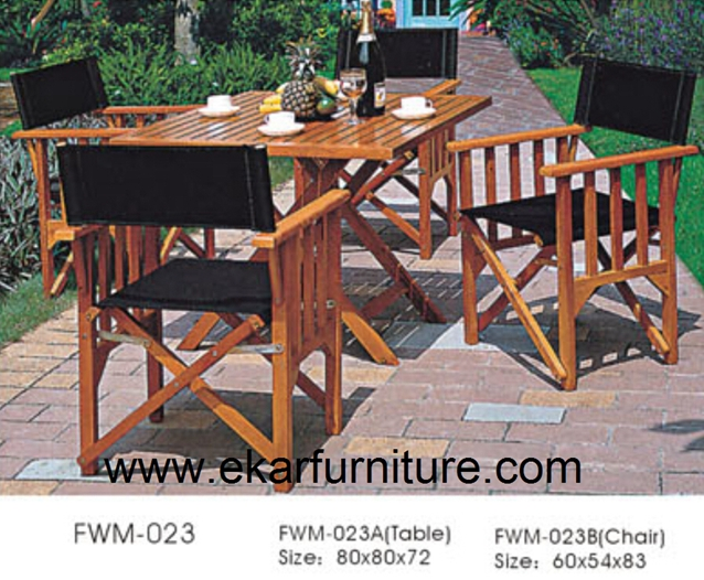 Teak table garden chairs garden dining table and chair FWM-023