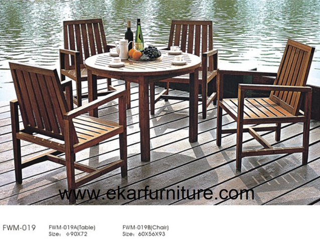 Teak sofa set garden dining table and chair FWM-019