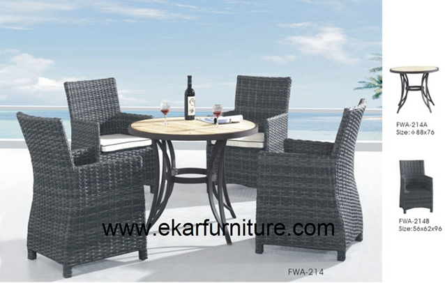 Garden chairs wicker chair outdoor table FWA-214