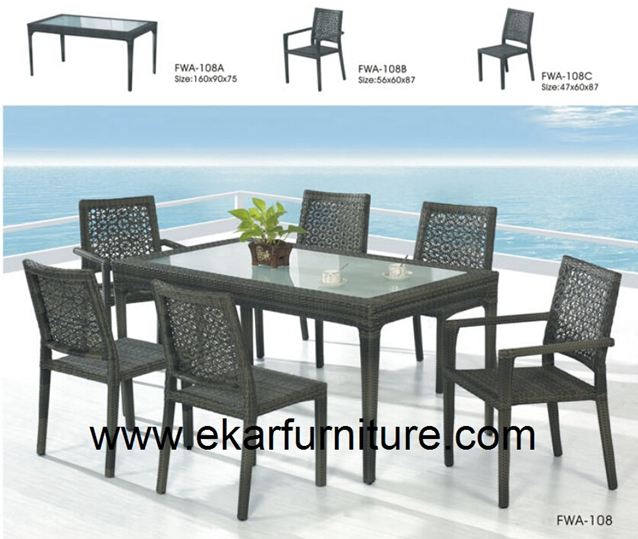 Wicker sofa garden set bar furniture FWA-108