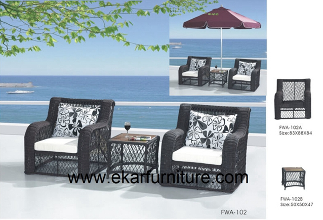 Garden chairs wicker chair with cushions FWA-102