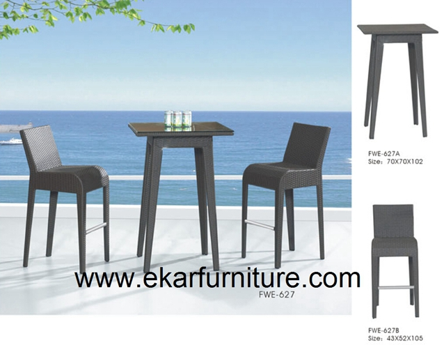 Garden table and chair outdoor furniture FWE-627