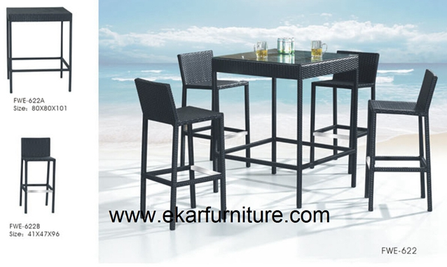 Garden table garden furniture plastic rattan furniture FWE-622