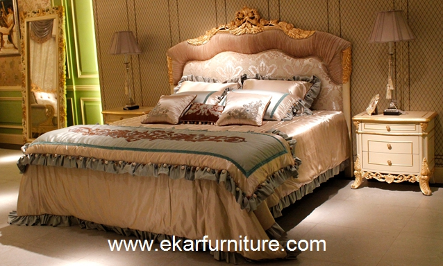King Beds classic bed royal luxury bed solid wood bed supplier Italy style FB-168