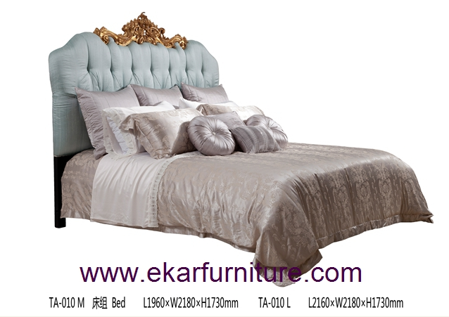 Queen bed king bed luxury bedroom classical bed Italy style bed bed price supplier TA-010