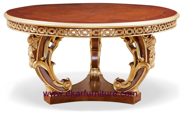 Wood round dining table french dining table round dining table antique dining table FT-138