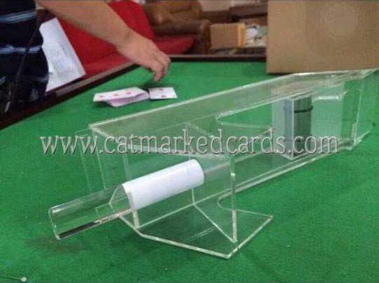 Transparent Poker Shoe for Baccarat Poker Cheat
