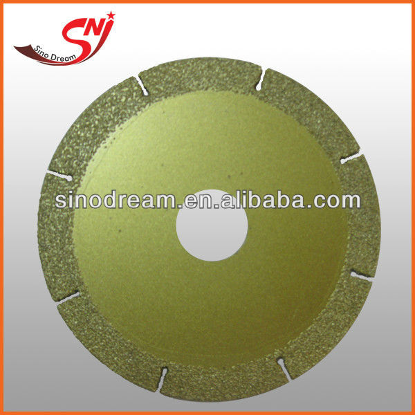 Diamond Vacuum Brazed Saw Blade For Glasss