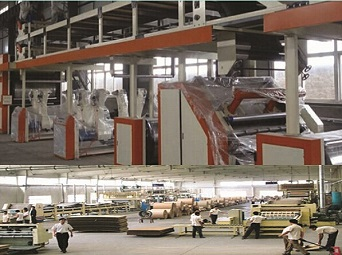 3 layer, 5 layer and 7 layer corrugated cardboard production line