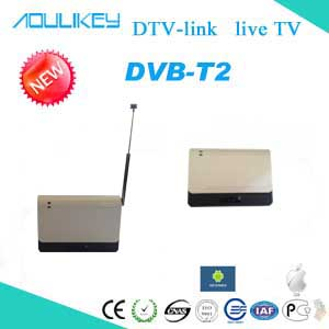 wireless mobile digital tv receiver,DTV Link support DVB-T2 and DVB-T HD digital tv,for android&IOS devices!