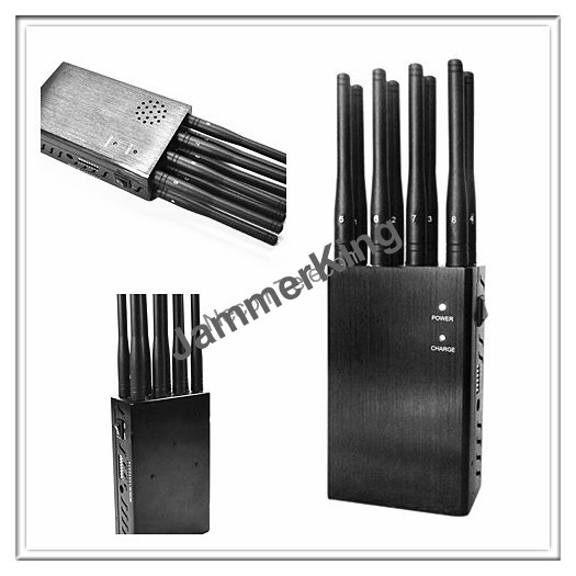 Handheld 8 band cellphone,wifi ,gps, remote control jammer