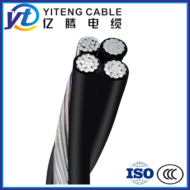 Triplex, Quadruplex Service Drop ABC Aerial Bundle Cable in Low Voltage 0.6/1KV
