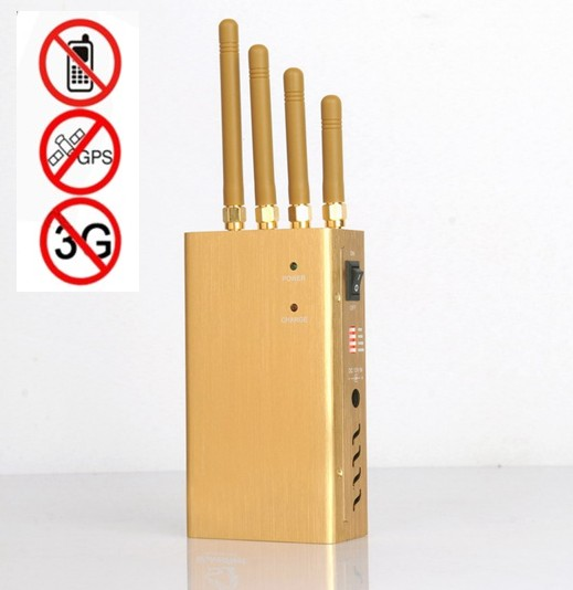 Golden high power handheld GPS, cell phone jammer