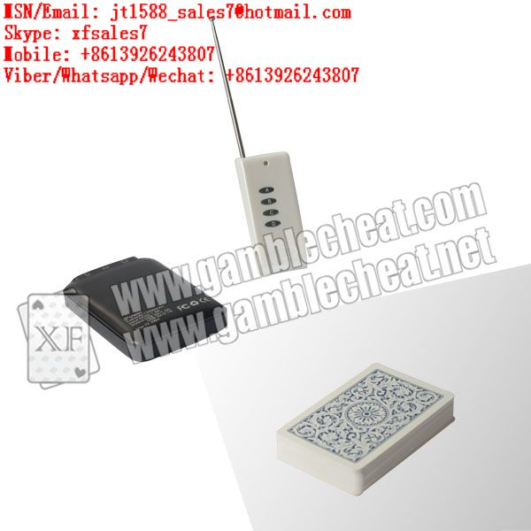 XF iPhone mobile power bank camera for poker analyzer and barcodes marked cards
