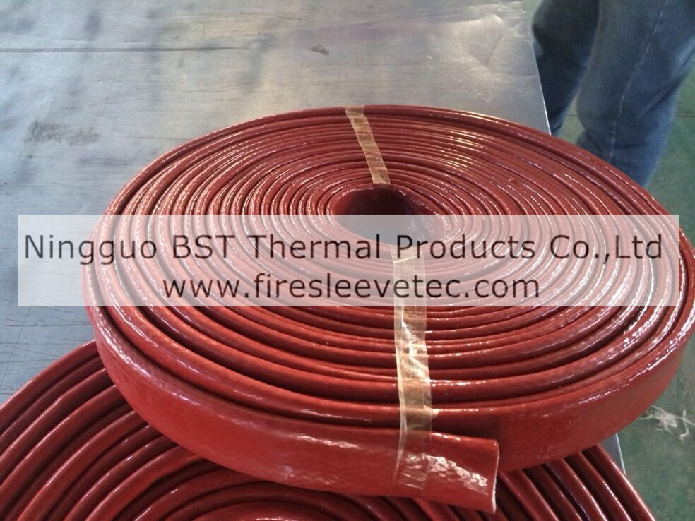 silicone rubber fiberglass braided thermosleeve