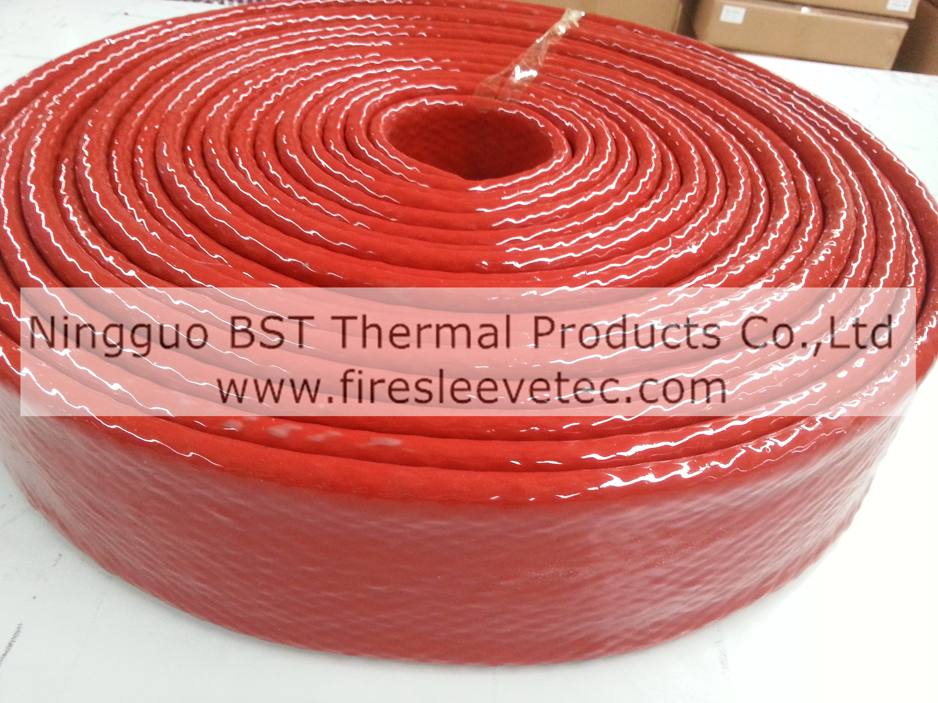 hydraulic hose protection thermosleeve