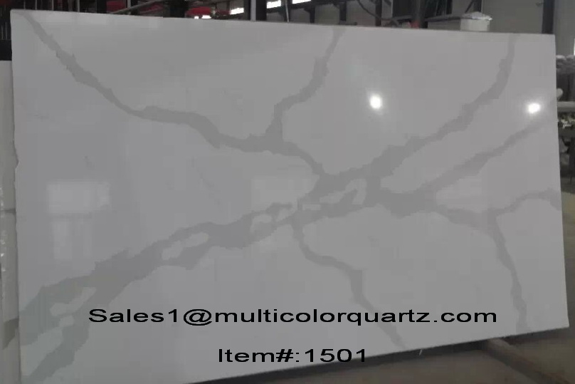 Multicolor quartz, artificial quartz stone, quartz slab stone