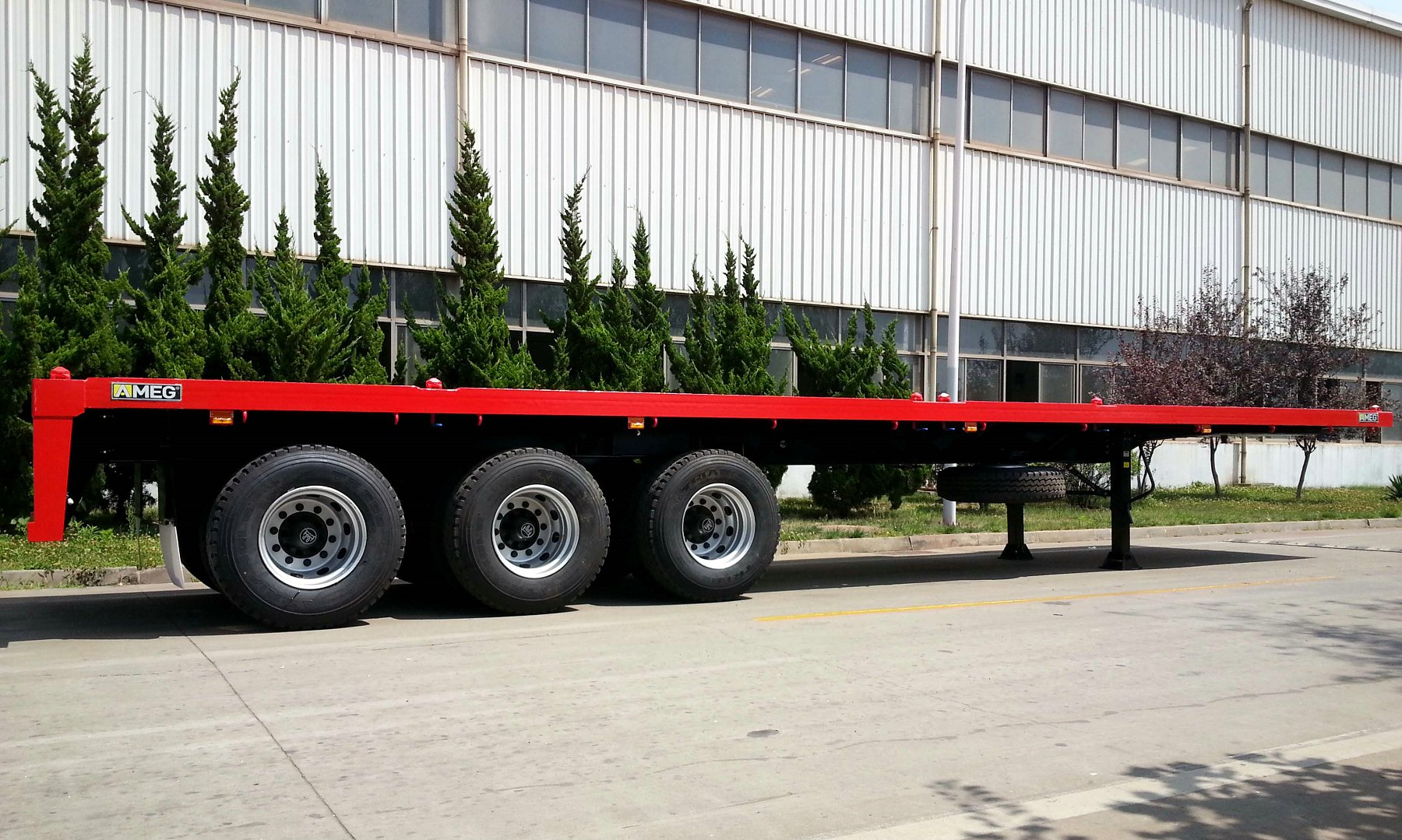 CIMC 2 and 3 axles Flatbed Semi-trailer