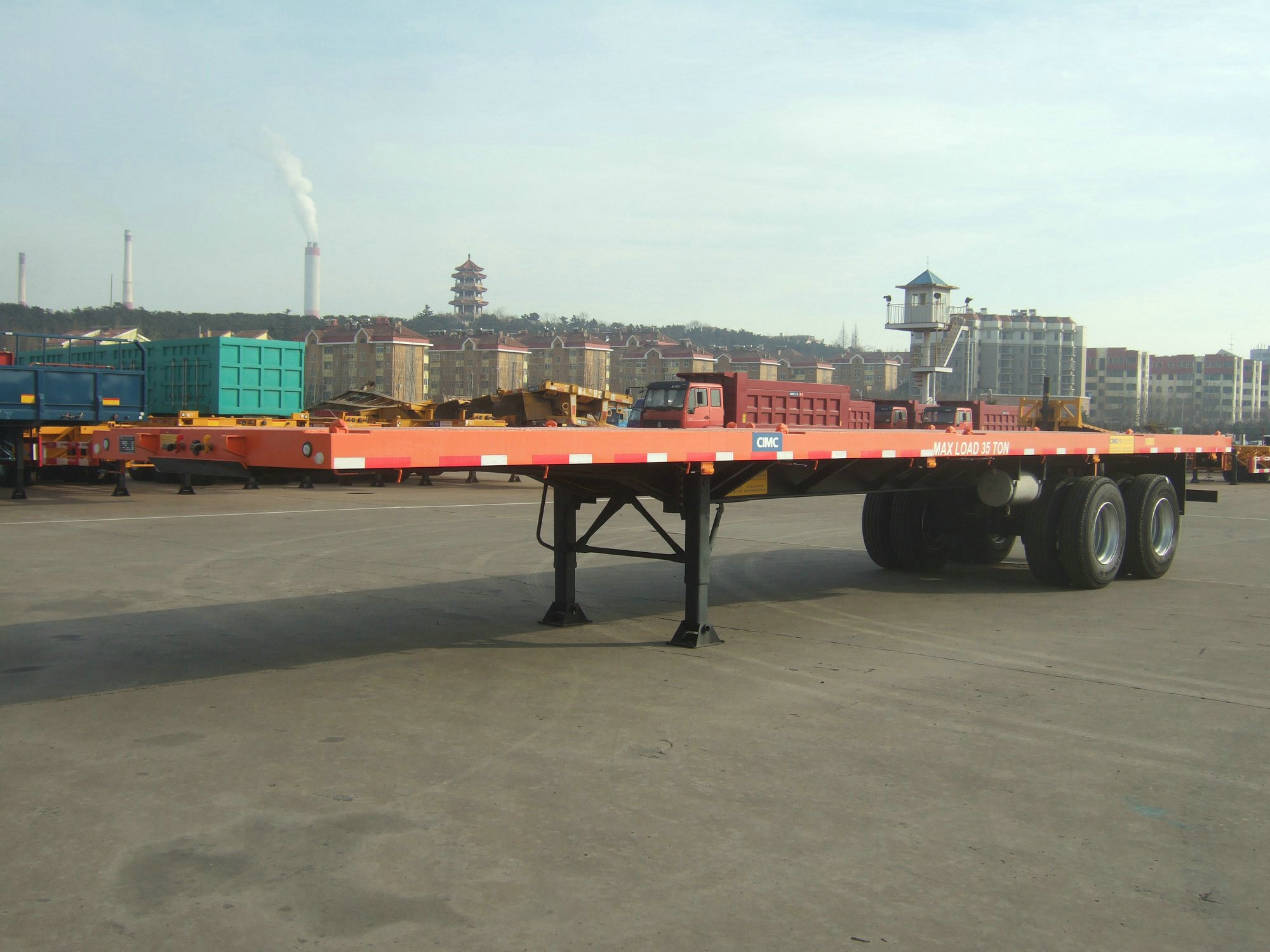 two axle Platform Trailer with 12 twistlocks