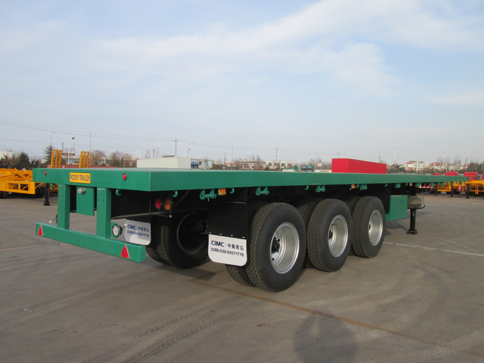 40ft three axle Platform trailer