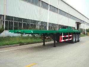 13M flatbed semi-trailer with three axles