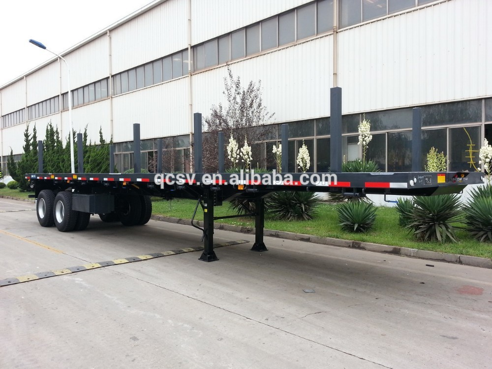 CIMC TRAILER 40' Flatbed Trailer with 2 Axles ( Side Steel Bar)