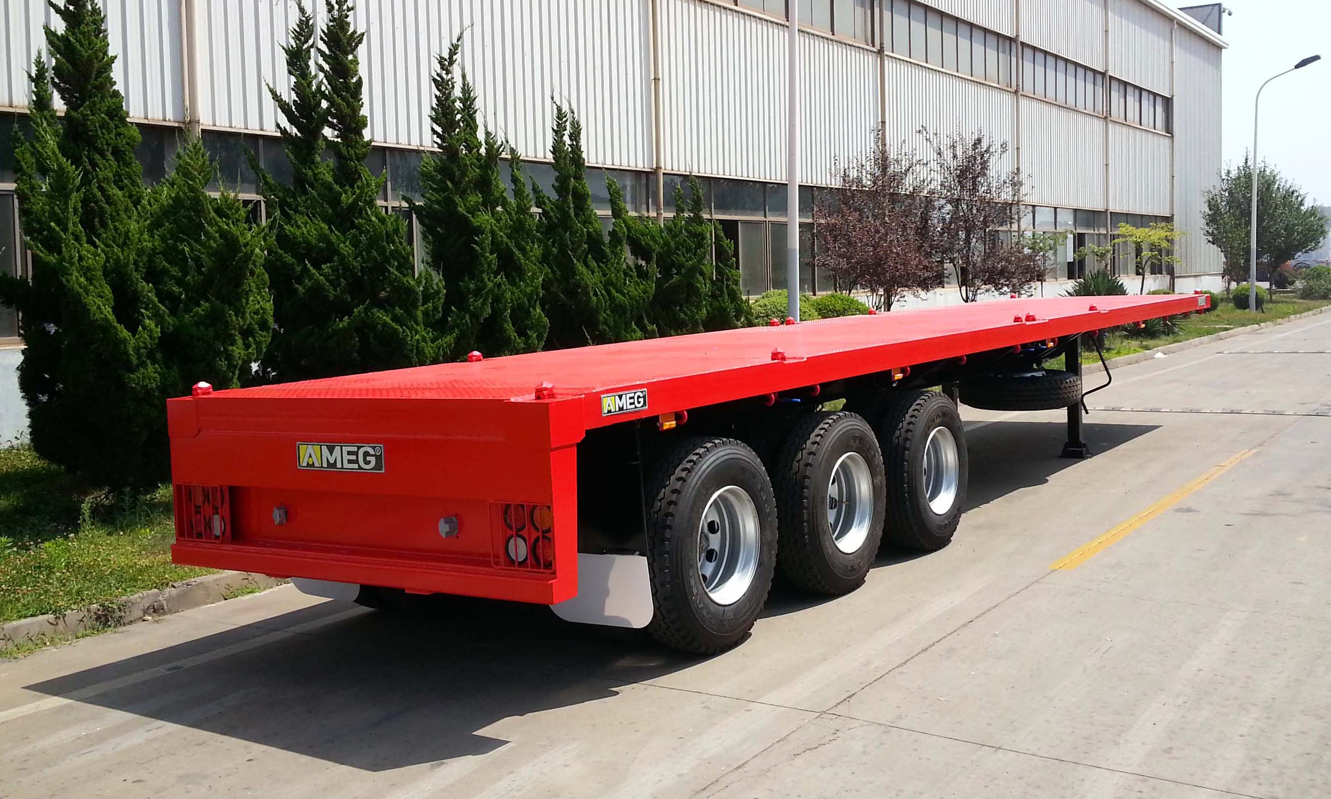 The most standard 40ft flatbed trailer with 3 axles