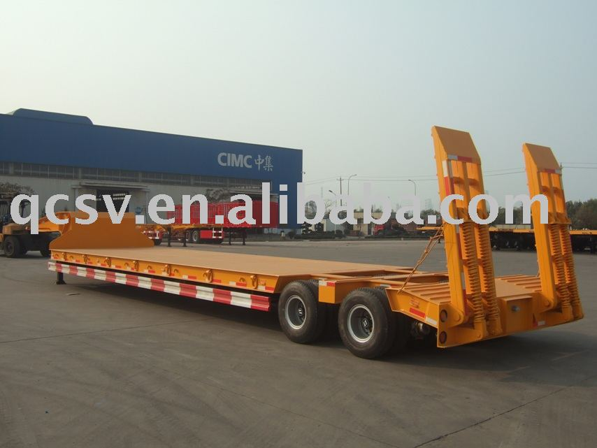 Low bed trailer With Argo Bogie Suspension(One Line Two Axles)